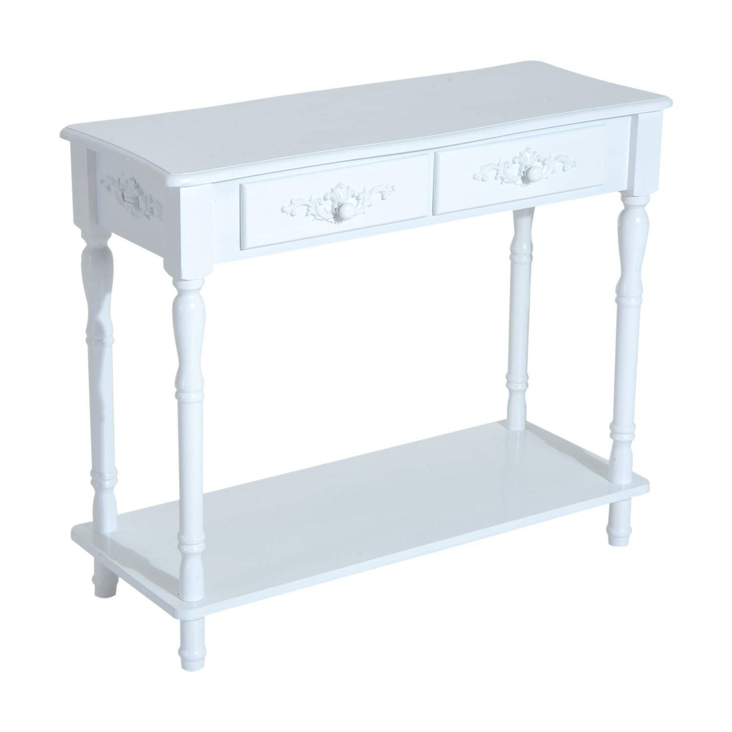 White Console Table ...